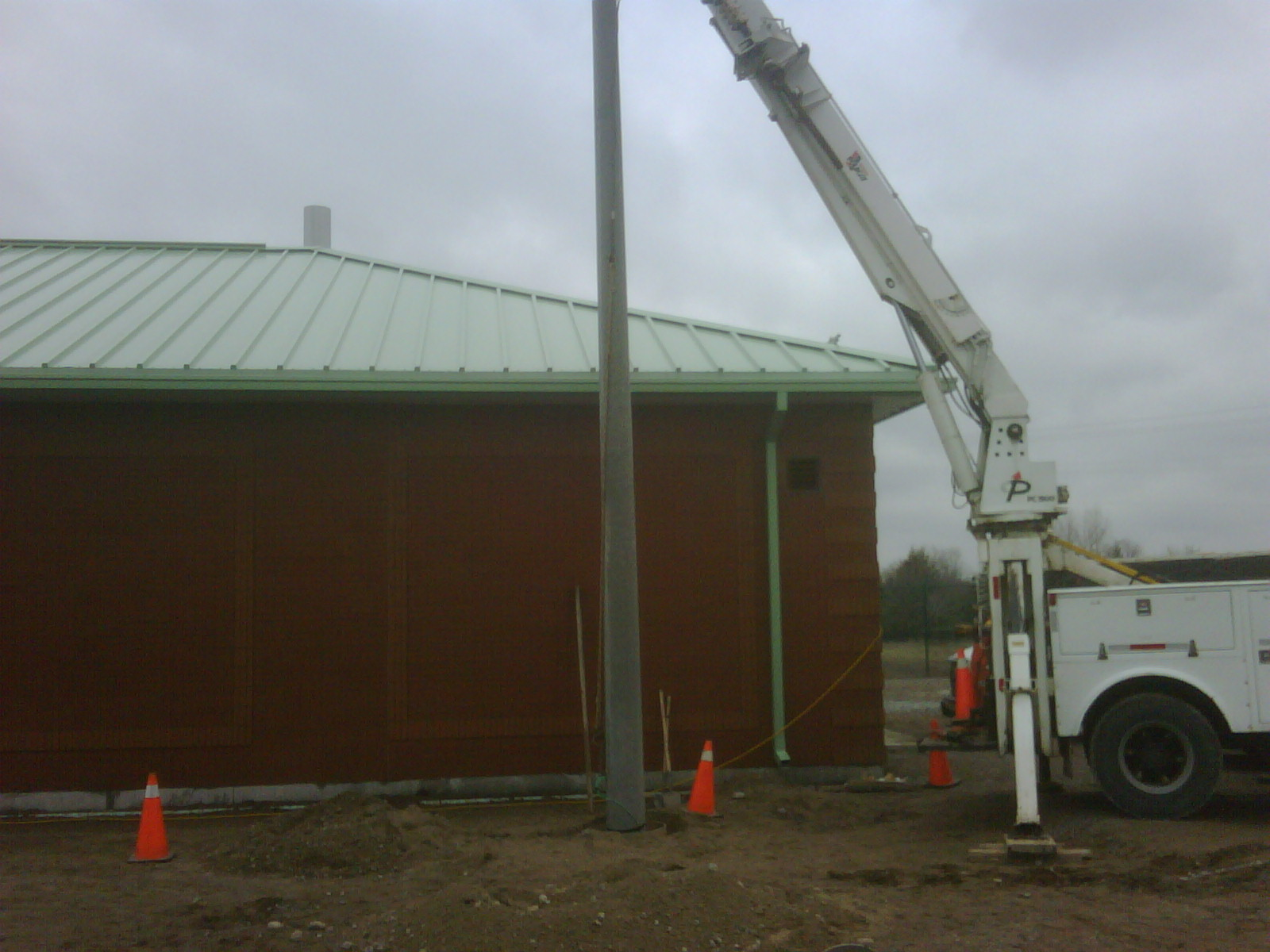 Security Pole Installation